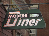 Neon Sign for the Modern Diner, on Main Street Photographic Print by Scott Sroka