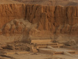 Hatshepsut's Mortuary Temple Rises Against a Desert Bluff Photographic Print by Kenneth Garrett