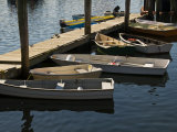 Rowboats Docked at a Pier Photographic Print by Todd Gipstein