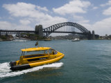Boats in Sydney Harbor and a Bridge across It Photographic Print by Mattias Klum