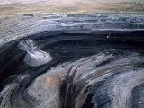 Aerial View of a Non Lignite Coal Strip Mine Photographic Print by Joel Sartore