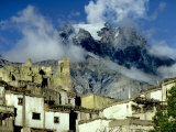 Jarkot Village and Yak Face Mountain Photographic Print by Gordon Wiltsie