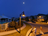 Covered Streetlamps Spare the Dark Sky and Save Energy Photographic Print by Jim Richardson