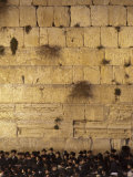 Jews Gather to Pray at the Western Wall in Jerusalem During Shabbat Photographic Print by Michael Melford