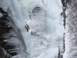 Man Ice Climbing Photographic Print by John Burcham