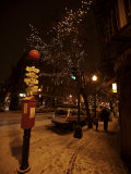 Winter Evening in Boston's North End, Italian Neighborhood Photographic Print by Tim Laman