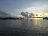 Clearwater Pass Bridge from Sand Key to Clearwater Beach at Sunset Photographic Print by Scott Sroka