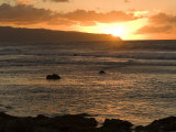 Sunset over the Pacific Ocean in Oahu Island, Hawaii Photographic Print by Charles Kogod