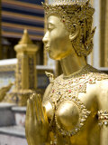 Gilded Statue at the Grand Palace, Bangkok Photographic Print by Rebecca Hale