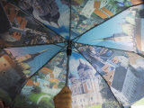 Umbrella Showing Some of the Main Tourist Attractions in Tallinn Photographic Print by  Keenpress