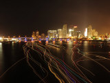 Downtown Miami at Night Photographic Print by Raul Touzon