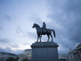 Equestrian Statue of King George Iv in Trafalgar Square in London Photographic Print by  xPacifica