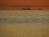 Power Plant on the Shoreline Photographic Print by Michael Melford