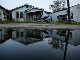 Destroyed Houses in the Lower Ninth Ward, Flooded by Hurricane Katrina Photographic Print by Tyrone Turner