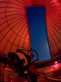 Inside an Observatory with Telescope Aimed at the Night Sky Photographic Print by Greg Dale