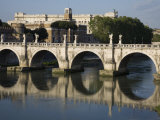 Sant' Angelo Bridge Spanning the Tiber River Photographic Print by Scott Warren