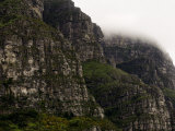 Scenic Tall Cliffs Shrouded in Fog Photographic Print by Mattias Klum