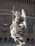 Angel with the Lance by Domenico Guidi on the Sant'Angelo Bridge Photographic Print by Scott Warren