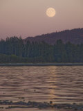 Moonrise at Sunset Along the Shores of Vancouver Island Photographic Print by Taylor S. Kennedy