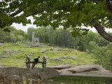 Cannon at Gettysburg Battlefield Protects Little Round Top Photographic Print by Greg Dale