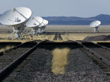 Dish Antennas and Tracks at the Very Large Array Photographic Print by Scott Warren