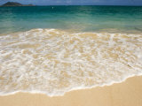Gentle Wave Washes Ashore on the Sands of Kailua Beach in Hawaii Photographic Print by Charles Kogod