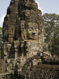 Stone Head of Bodhisattva Avilokiteshvara, Bayon Temple Photographic Print by Rebecca Hale