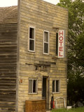 Abandoned Wooden Hotel Deteriorates in North Dakota Town of Stanley Photographic Print by Phil Schermeister