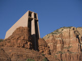 Chapel of the Holy Cross Church on a Cliff in Sedona, Arizona Photographic Print by John Burcham