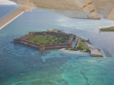 Aerial of Fort Jeffereson, at Dry Tortugas Off the Coast of Key West Fotografisk tryk af Mike Theiss