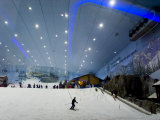 Indoor Winter Wonderland with Snow and Ski Slopes Photographic Print by Mattias Klum