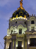 Vintage Architecture at Dusk Along the Gran Via in Madrid Photographic Print by Scott Warren
