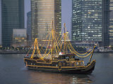 Tour Boat on the Huangpu River, with Modern Shanghai in Background Photographic Print by Scott Warren
