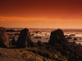 Enhanced Sunset on a Rocky Coast in Ireland Photographic Print by Nick Norman