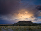 Storm Clouds over Sacred Ground at Black Mesa Photographic Print by Ralph Lee Hopkins
