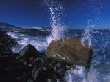 Waves Breaking on Rocks Photographic Print by Nick Norman