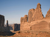 Scenic Rock Formations in the Courthouse Towers Area Photographic Print by Scott Warren