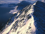 Snowcapped Mountain Ridge Photographic Print by Nick Norman