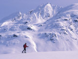 Woman Skiing on Haines Summit Photographic Print by Nick Norman