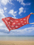 Sarong Blowing in the Wind at the Beach Photographic Print by John Burcham