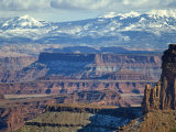 La Sal Mountains from Island in the Sky, Canyonlands National Park Photographic Print by Scott Warren