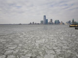 Cracked Sea Ice Off the Shore of New York City Photographic Print by Mike Theiss