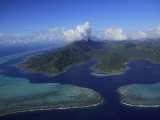 Aerial View of Raiatea Island Photographic Print by Stephen Alvarez