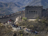 Great Wall at Badaling, the Most Heavily Visited Portion of the Wall Photographic Print by Scott Warren