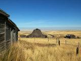 Abandoned Farm in Canada's Prairies Fotografiskt tryck av Pete Ryan