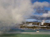 Blue Lagoon Geothermal Hot Springs and Power Plant Photographic Print by Mattias Klum