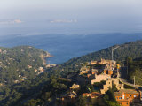 Birds Eye View of the Small Coastal Town of Begur in the Costa Brava Photographic Print by Scott Warren