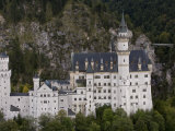 Aerial View of Neuschwanstein Castle Built by King Ludwig I Photographic Print by Michael Polzia