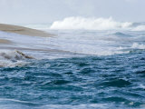 Waves Pound the Shore at Sunset Beach, Oahu Island, Hawaii Fotografisk tryk af Charles Kogod