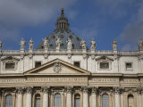 Detail of the Facade of Saint Peter's Basilica in Rome Photographic Print by Scott Warren